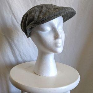 Vintage Kangol grey wool newsboy cap